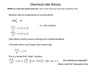 Chemical rate theory 3