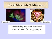 Lecture P-1 Earth Materials-I