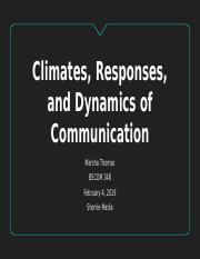 Climates, Responses, and Dynamics of Communication.pptx