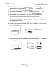 6-13a_13b_-Work_Wkst-Key.pdf - Worksheet Work KEY Name force 1 Work ...