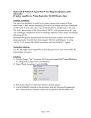 Homework 3 Problem 4 Aspen Multicompress
