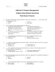 CMP 612 IT Project Management Final Exam  Fall 2016.docx