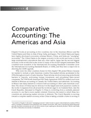 Chapter 4   Comparative Accounting; The Americas And Asia