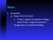 Chapter 2b - Water