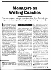 #9) Managers as Writing Coaches
