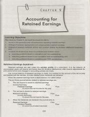 C9 Accounting for Retained Earnings