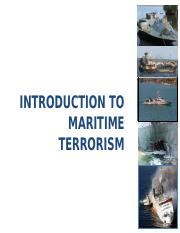 9 Introduction to Maritime Terrorism