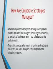 How Are Corporate Strategies Managed.pptx