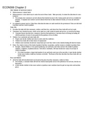 Econ306- Outlines