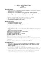 Bus 2 132 Midterm 2 Study Guide for Question Topics
