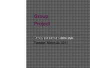 Group Project Info