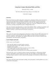 Policy and Stats syll 10
