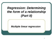 Correlation and Regression - Part III