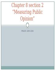 Chapter 8 section 2 Measuring public opinion.pptx