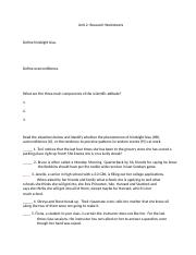 Unit 2-Research Worksheets