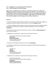 Unit 5 Intellipath Ethical Standards for decison-making.docx
