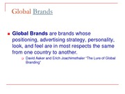 Global Branding and Product Lecture Slides