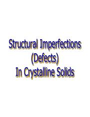 CH 6 Structural Imperfections and Atom Movements tt