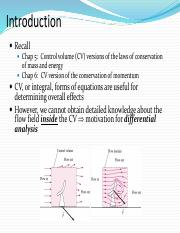 CH9_DIFFERENTIAL ANALYSIS OF FLUID FLOW