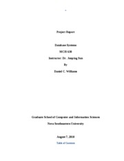Database Systems Research Paper