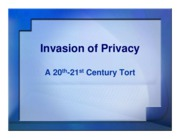 invasion of privacy ppt
