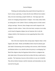Essay on Ancient Religions