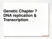 GENETICS chapter 7- transcriotion and DNA replication