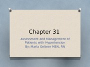 Chapter 31 Assessment and Management of Patients with Hypertension.pptx