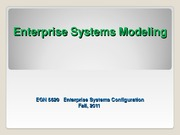 EGN_5620_Enterprise_Sys_Modeling Fall 2011
