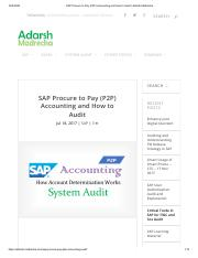 SAP Procure to Pay (P2P) Accounting and How to Audit _ Adarsh Madrecha.pdf