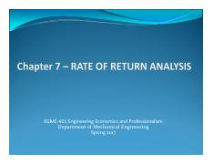 Chapter 07-S17 Rate of Return Analysis