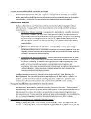 Chapter 10 Internal Control Risk and Section 404 Audits Notes.docx