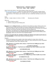 Accounting Homework: Essay on Hallstead (CASE EXAMPLE)