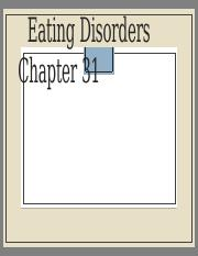 Week 6 Chapter 31 Eating disorders.pptx