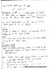 Introduction to Real Analysis - Compact Sets Notes