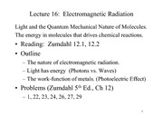 Lecture 16 on Electromagnetic Radiation