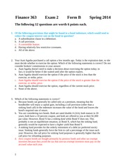 Second Exam 2014 Form B Solutions