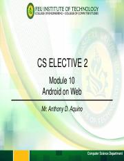 Module 10 - Android Mobile and Web Application