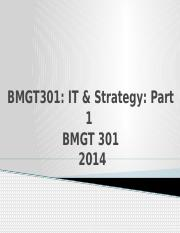 BMGT 301 - Strategy 1-1-1