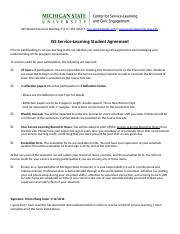 ISS Service-Learning Agreement