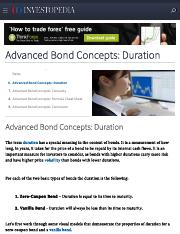 Advanced Bond Concepts_ Duration