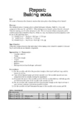 2i Chemistry - Report - Baking soda
