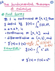 MAT 2742 The Fundamental Theorem of Calculus Notes