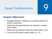 Chapter 9 - Stress Transformation