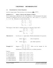 Chapter 2 Determinants(1)