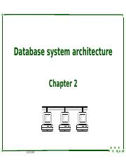 2 Database system architecture.ppt