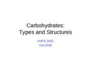 07 Carbohdrates - Types and Structure