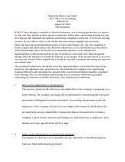 Cost accounting Week 1 Homework Ethical Paper .docx