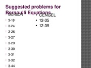 Selected Problems for FLUIDS (Bernoulli)