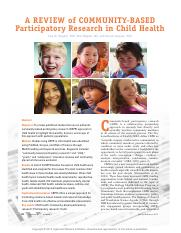 A Review of CBPR in Child Health